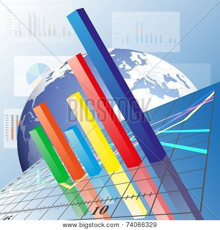 Progressive Bar chart. Abstract vector illustration