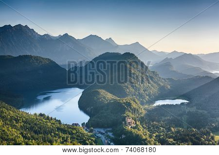 Alpine Lakes Near Neuschwanstein Castle