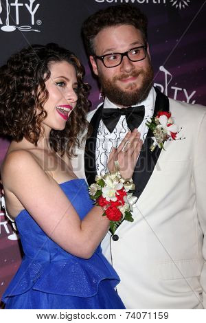 LOS ANGELES - OCT 17:  Lauren Miller Rogen, Seth Rogen at the Hilarity for Charity Benefit for Alzheimer's Association at Hollywood Paladium on October 17, 2014 in Los Angeles, CA