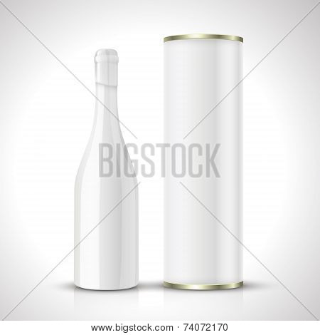 Blank Wine Bottles With Package
