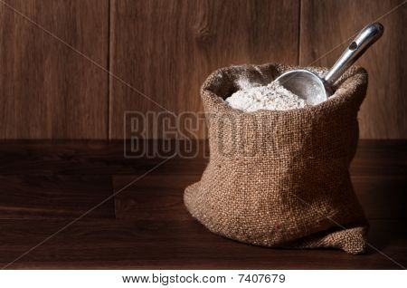 Flour Sack With Scoop