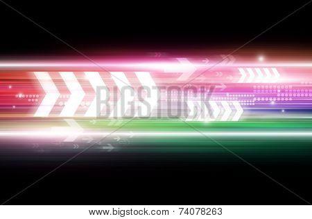 Arrow Tech Illustration Background