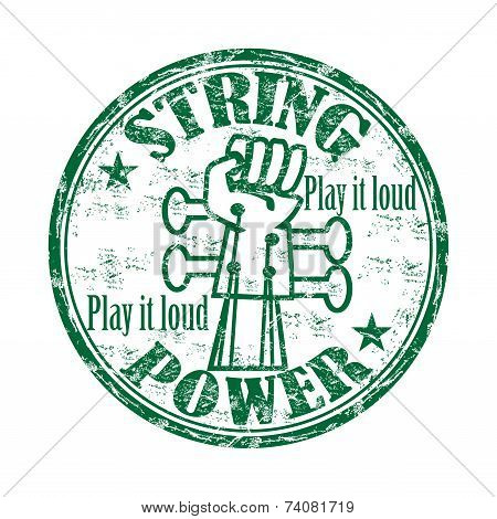 String power rubber stamp