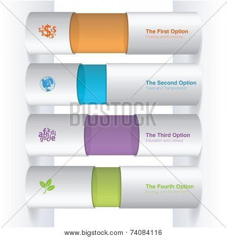 Color boxes. Infographic chart vector design element set.