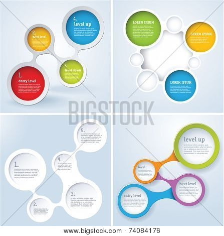 Simply minimal infographic template design set. Vector.
