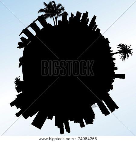 Planet Singapore vector illustration.