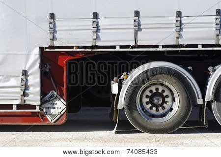 Detail Of A Large Australian Trailer Truck