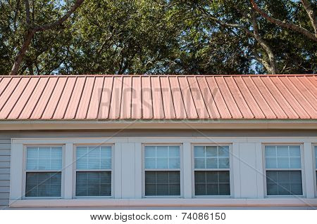 Red Metal Roof On Hotel