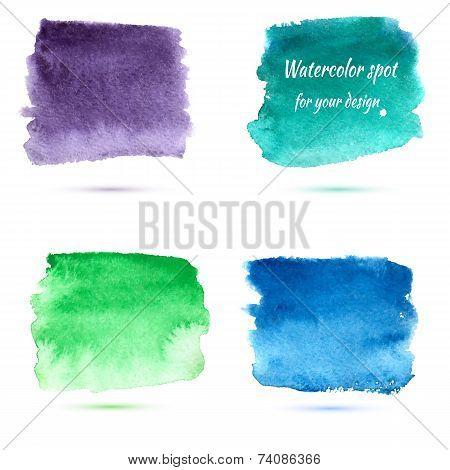 Watercolor Spots For Design Elements