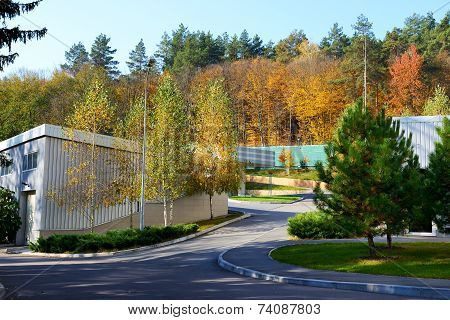 Novi Petrivtsi, Ukraine - October 14: The Personal Fuel Station In Mezhigirya On October 14, 2014 In