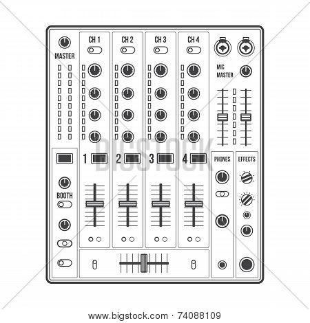 outline sound dj mixer