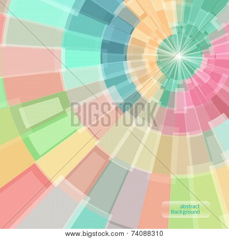 Abstract Multicolor Circle Tunnel