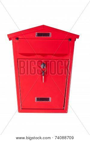 Red mailbox.
