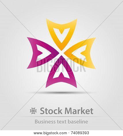 Stock Market Business Icon