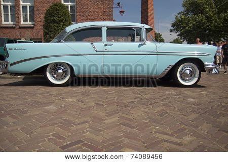 Baby blue car