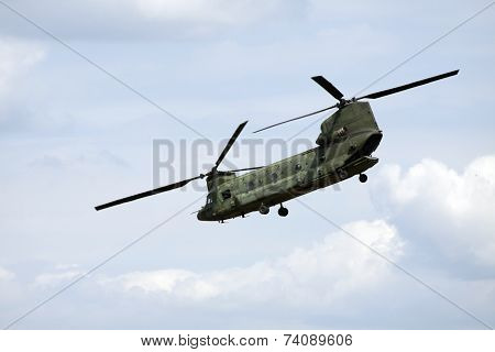 Helicopter in action