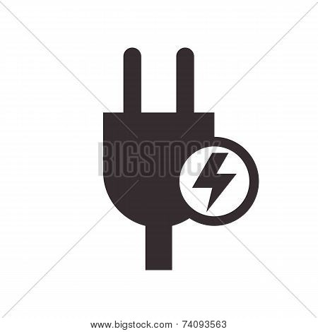 Plug And High Voltage Sign