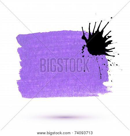 Vector purple marker stain with ink blob