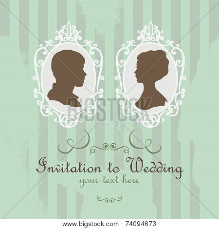 Vector Wedding Invitation Card