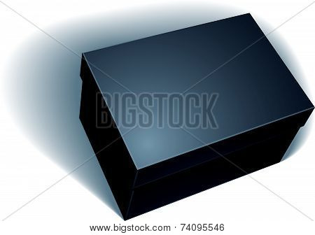 Package black box design isolated on white background