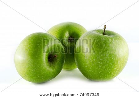 Granny Smith Apples Isolated On White Background