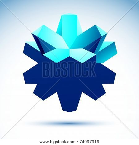 Abstract 3D origami polygonal object, geometric design element, clear eps 8.