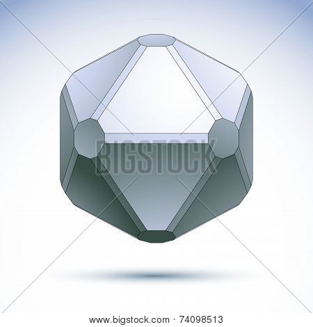 Abstract geometric 3D complicated grayscale object, eps 8.