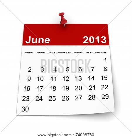 Calendar 2013 - June