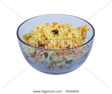 Home Made Cole Slaw Blue Bowl