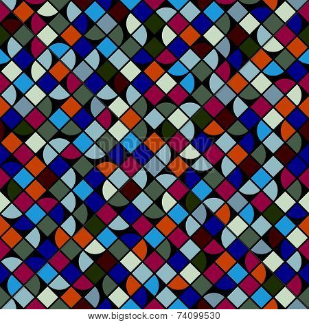 colorful fractional geometric background, squared abstract seamless pattern.