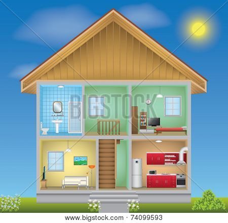 Detailed house interior