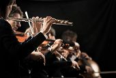 Постер, плакат: Classical Music Concert: Flutist Close up