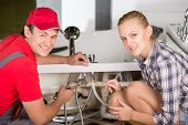 picture of plumber  - Professional plumber - JPG