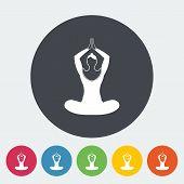 Yoga flat icon.