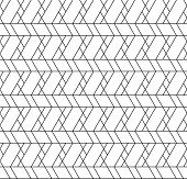picture of trapezoid  - Black and white geometric seamless pattern with line rhombus trapezoid and triangle eps10 vector - JPG