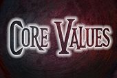 picture of scruple  - Core Values Concept text on background business idea - JPG
