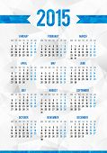 foto of grids  - Simple 2015 year European calendar vector grid - JPG