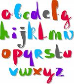 image of verbs  - Calligraphic script font - JPG