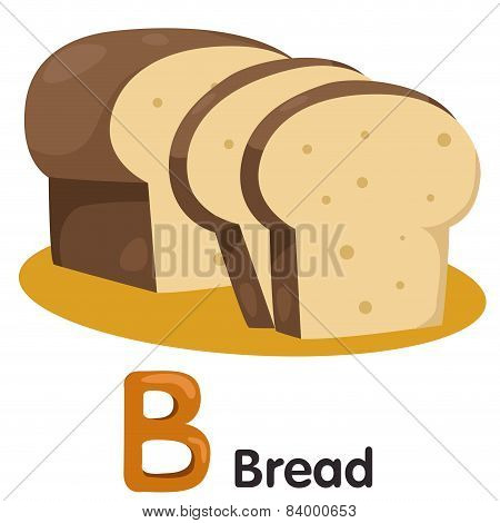 Illustrator of B font with bread