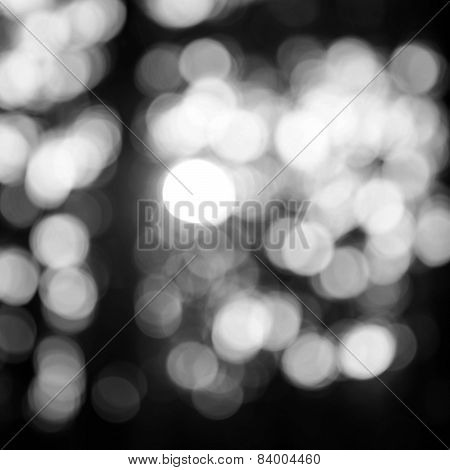 Bokeh Background Black And White