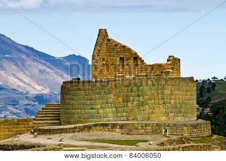 Temple of the sun, Ingapirca important inca ruins in Ecuador