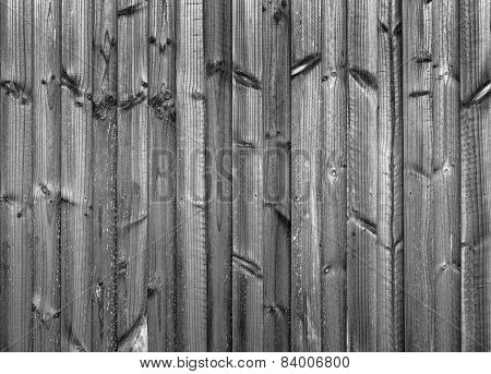 New Wood Fence Black And White