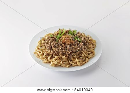 Fried Noodle With Minced Pork Fried