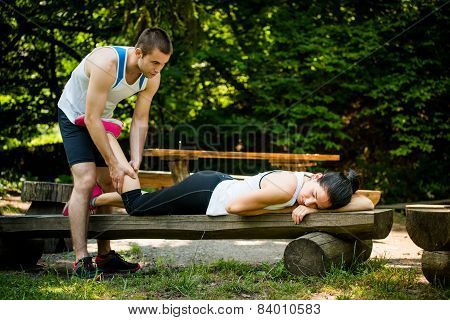 Massage after sport training
