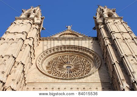 Facade of Palma de Mallorca Cathedral