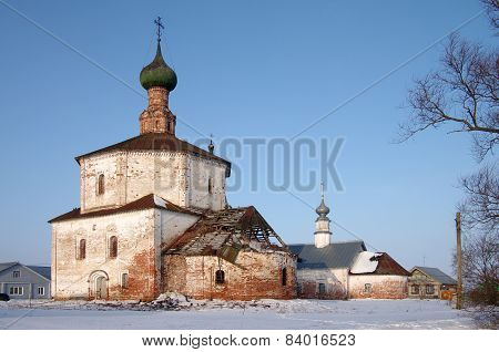 The Holy Cross Church And The Church Of Cosmas And Damian In Suzdal, Russia