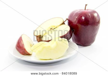 Red Apple Cut And Peel Ingredient With Raw Material