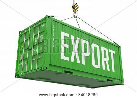 Export - Green Hanging Cargo Container.