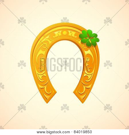 Lucky Horse Shoe As Symbol For Saint Patricks Day