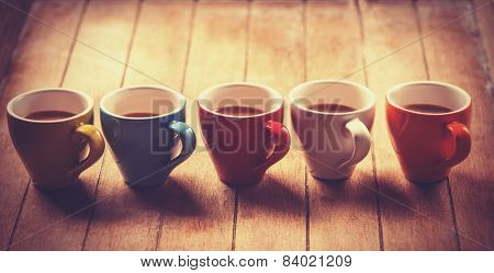 Group Of A Coffee Cups.